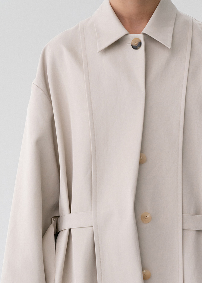 917 Oatmeal Inside-out Trench Coat