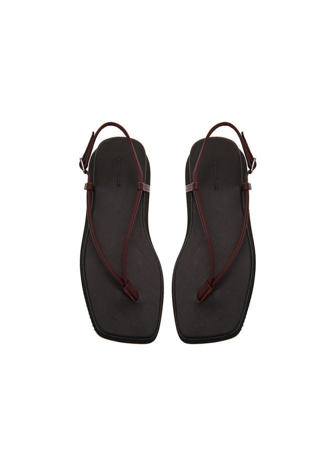 917 Strap Leather Sandals (Burgundy)