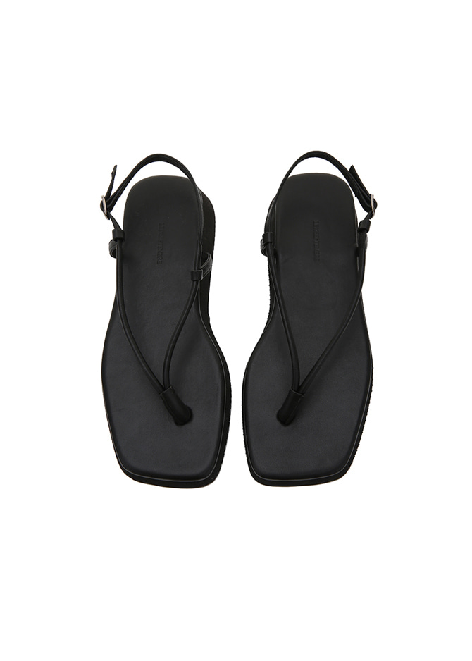 917 Strap Leather Sandals (Black)