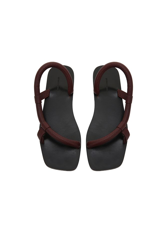 917 Rope Leather Slipper (Burgundy)