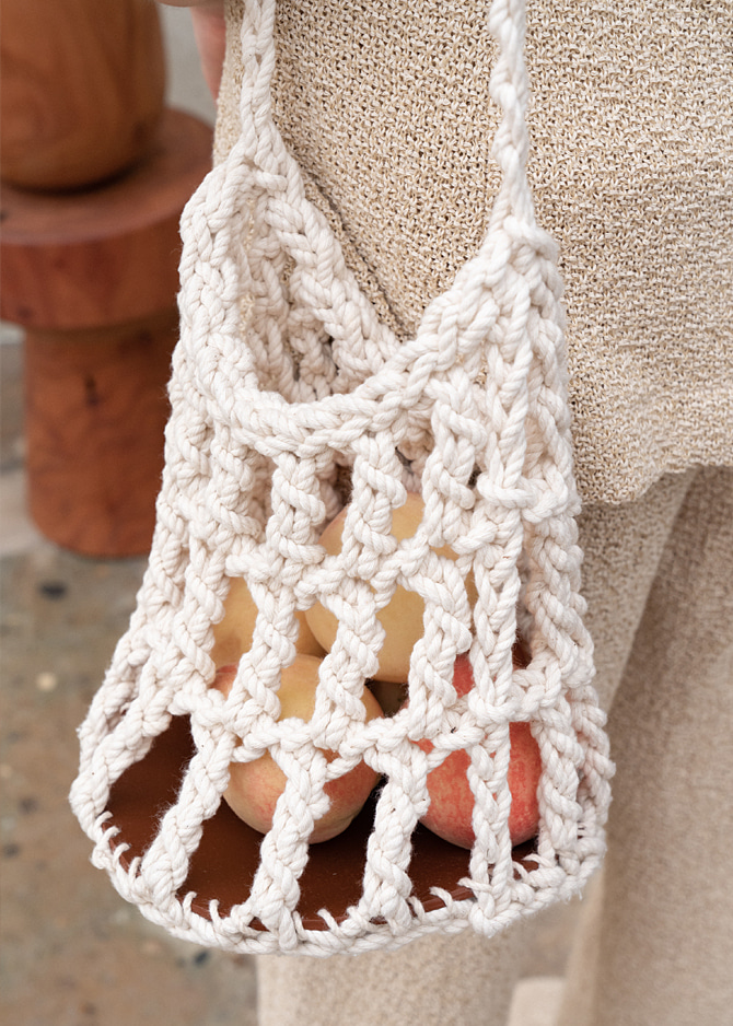 917 Handmade Knitted Bucket Bag
