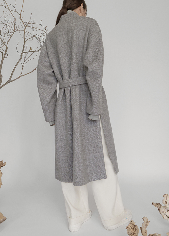 917 Grey Stitch Coat
