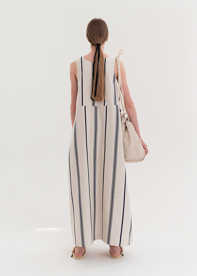 917 Stripe Sleeveless Maxi Dress