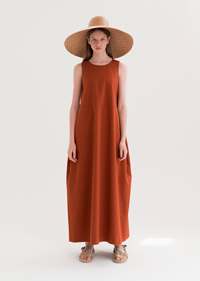 917 Brick Sleeveless Maxi Dress