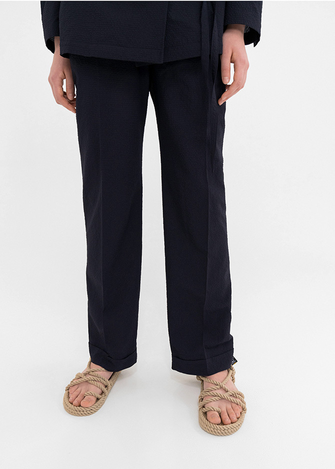 917 Seersucker Navy Pants