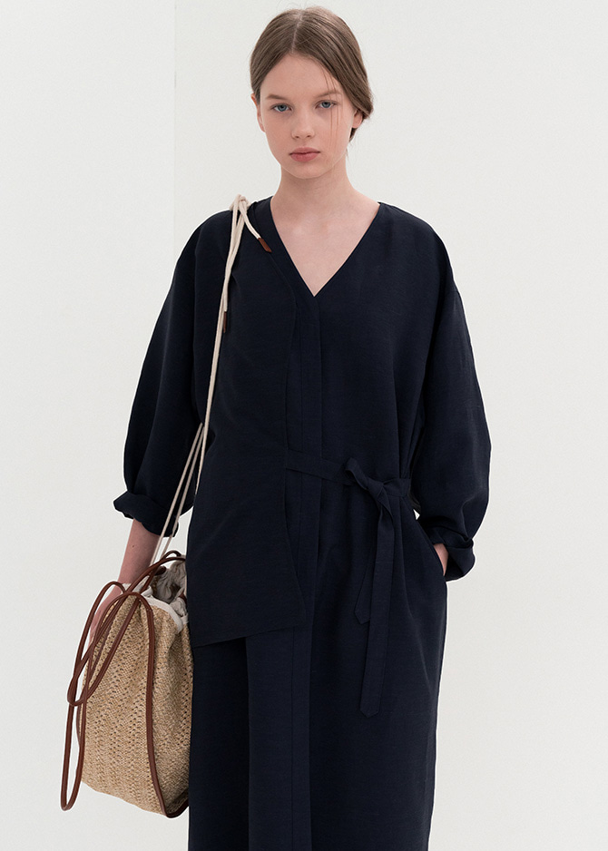 917 Navy Layered Dress