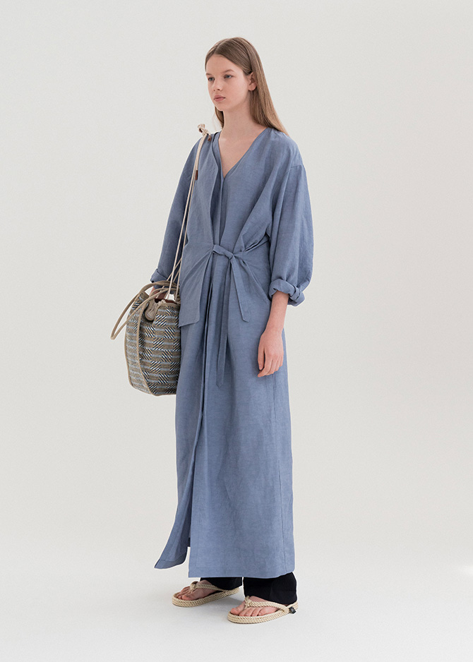 917 Blue Layered Dress