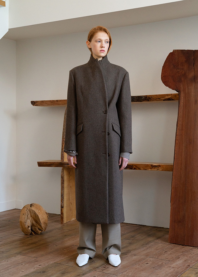 917 Dust Brown Classic Wool Coat