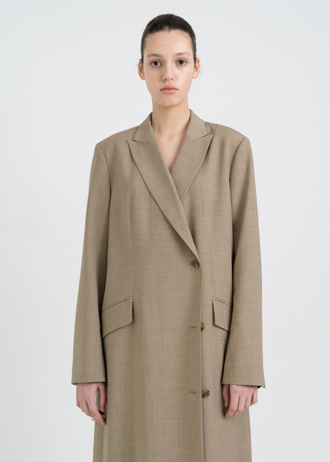 917 Spring Long Coat (Beige)