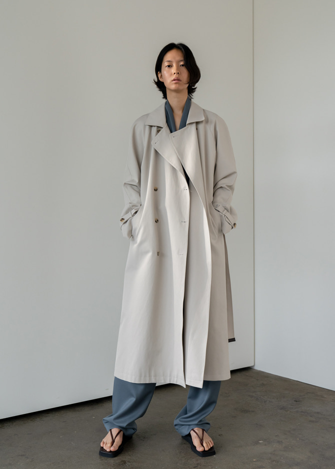 917 Double Breasted Trench Coat (Beige)