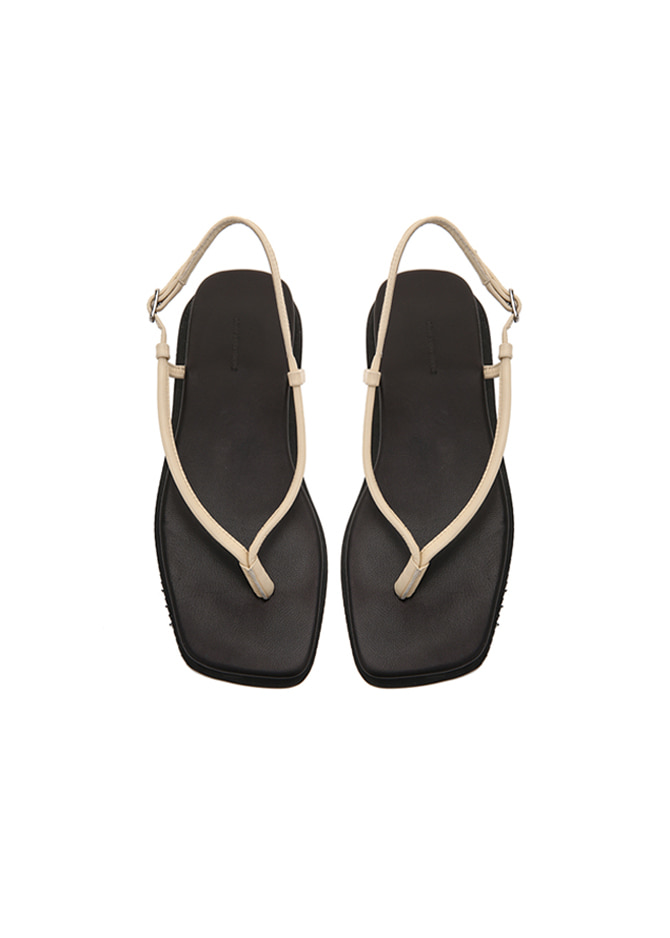 917 Strap Leather Sandals (Ivory)